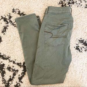 American Eagle Green Khaki Tomgirl Pant